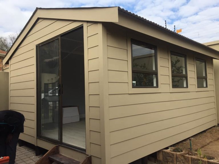 Nutec Huts are single rooms and can be extended to make a Nutec Container Home, Nutec and Log profile Classroom and Kitchen and lounge with bedrooms.